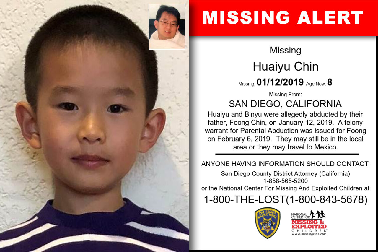 HUAIYU_CHIN missing in California