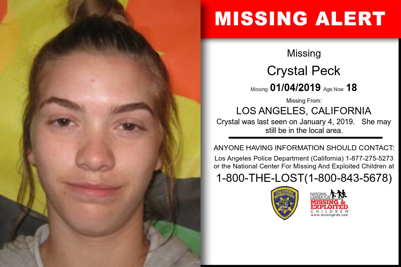 CRYSTAL_PECK missing in California