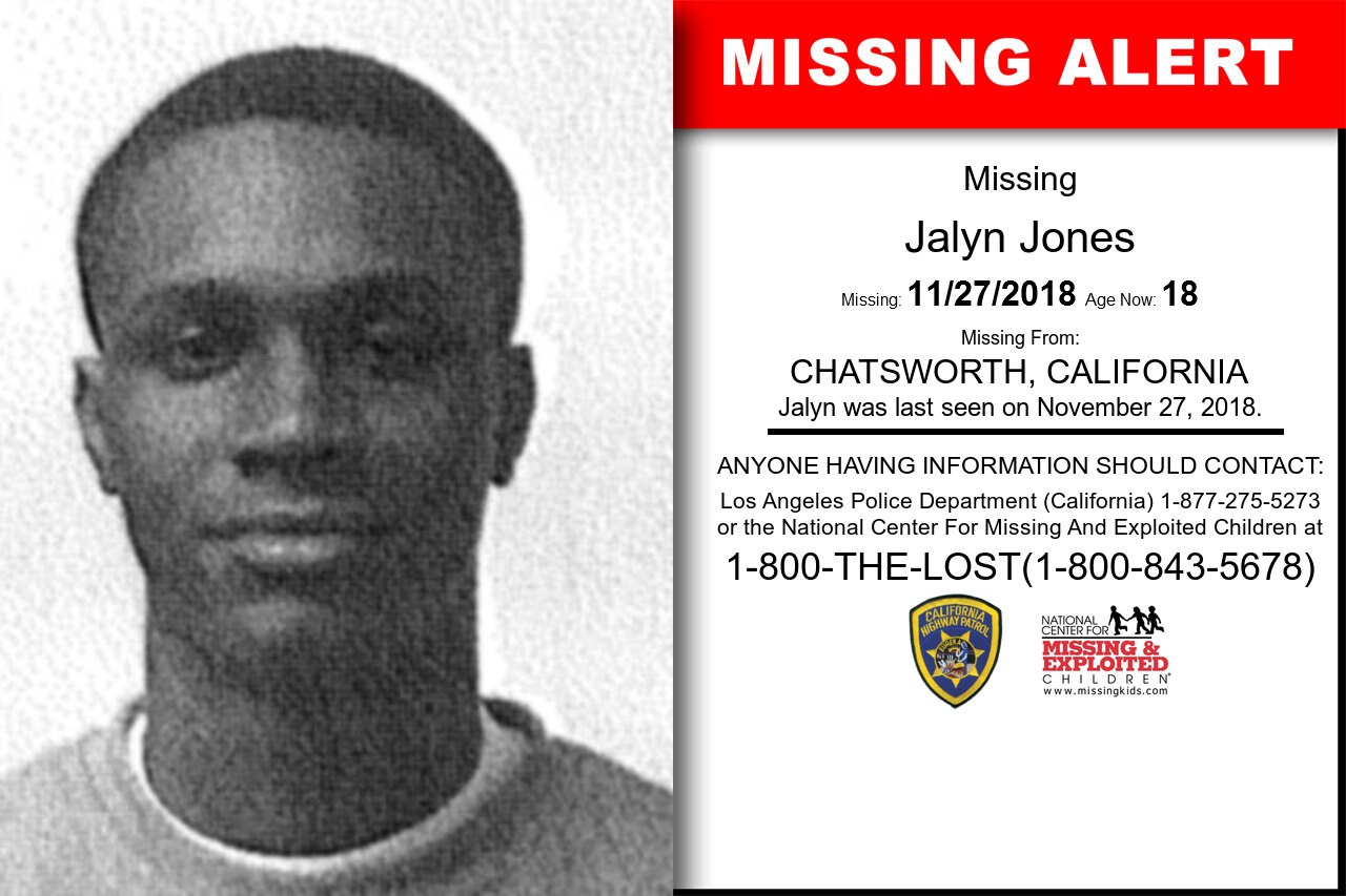 Jalyn_Jones missing in California
