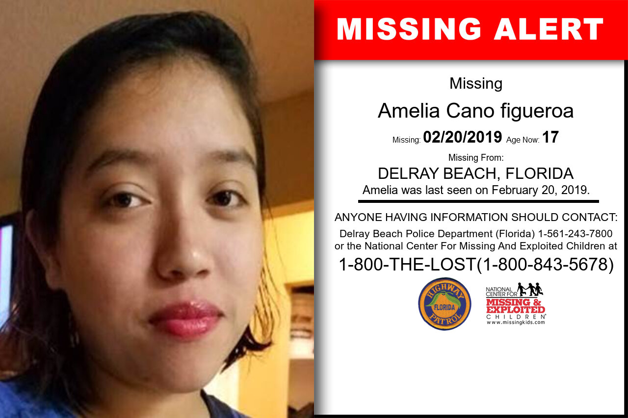 AMELIA_CANO_FIGUEROA missing in Florida