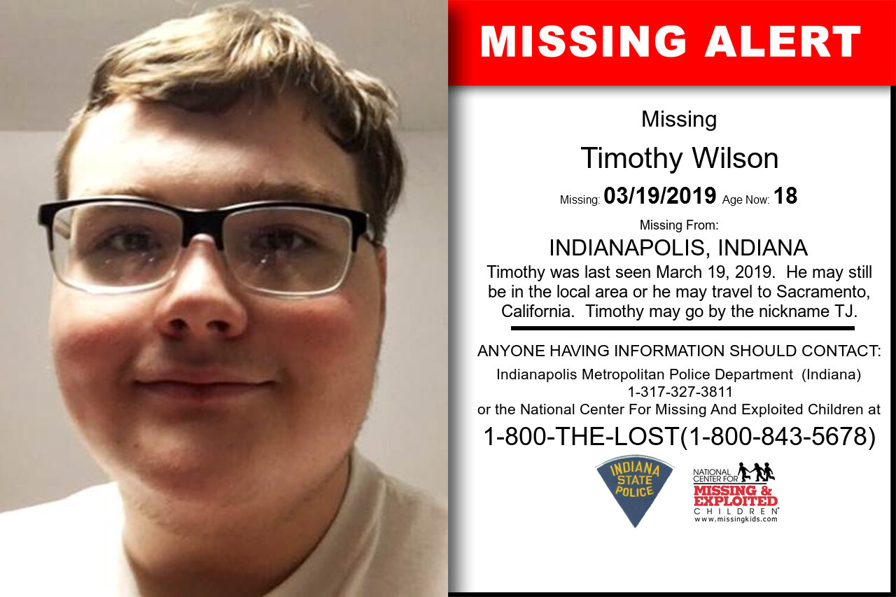 Timothy_Wilson missing in Indiana