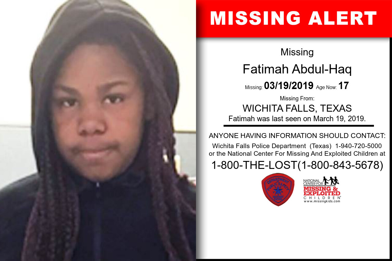 FATIMAH_ABDUL-HAQ missing in Texas