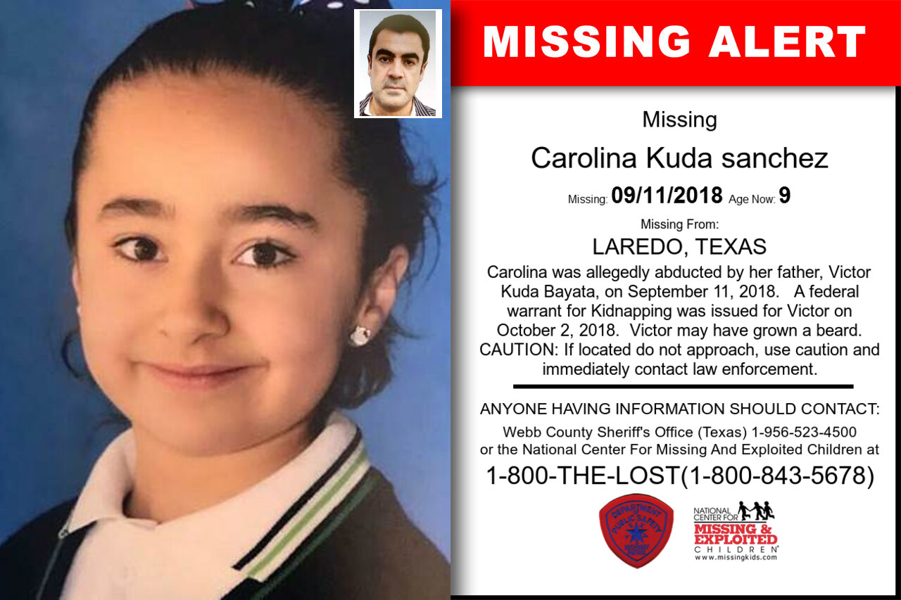 CAROLINA_KUDA_SANCHEZ missing in Texas