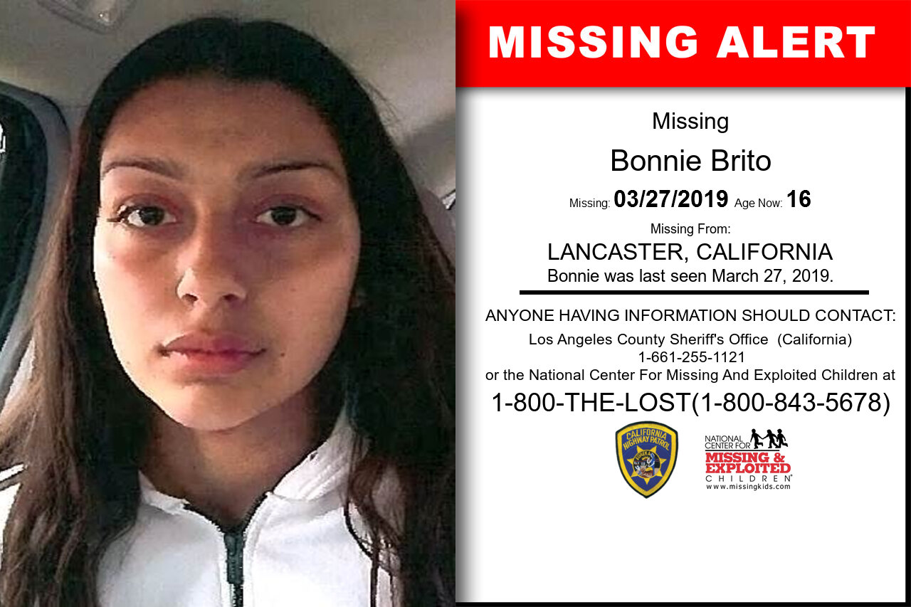Bonnie_Brito missing in California