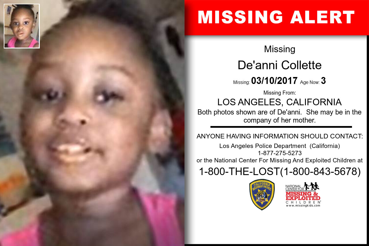 DE'ANNI_COLLETTE missing in California