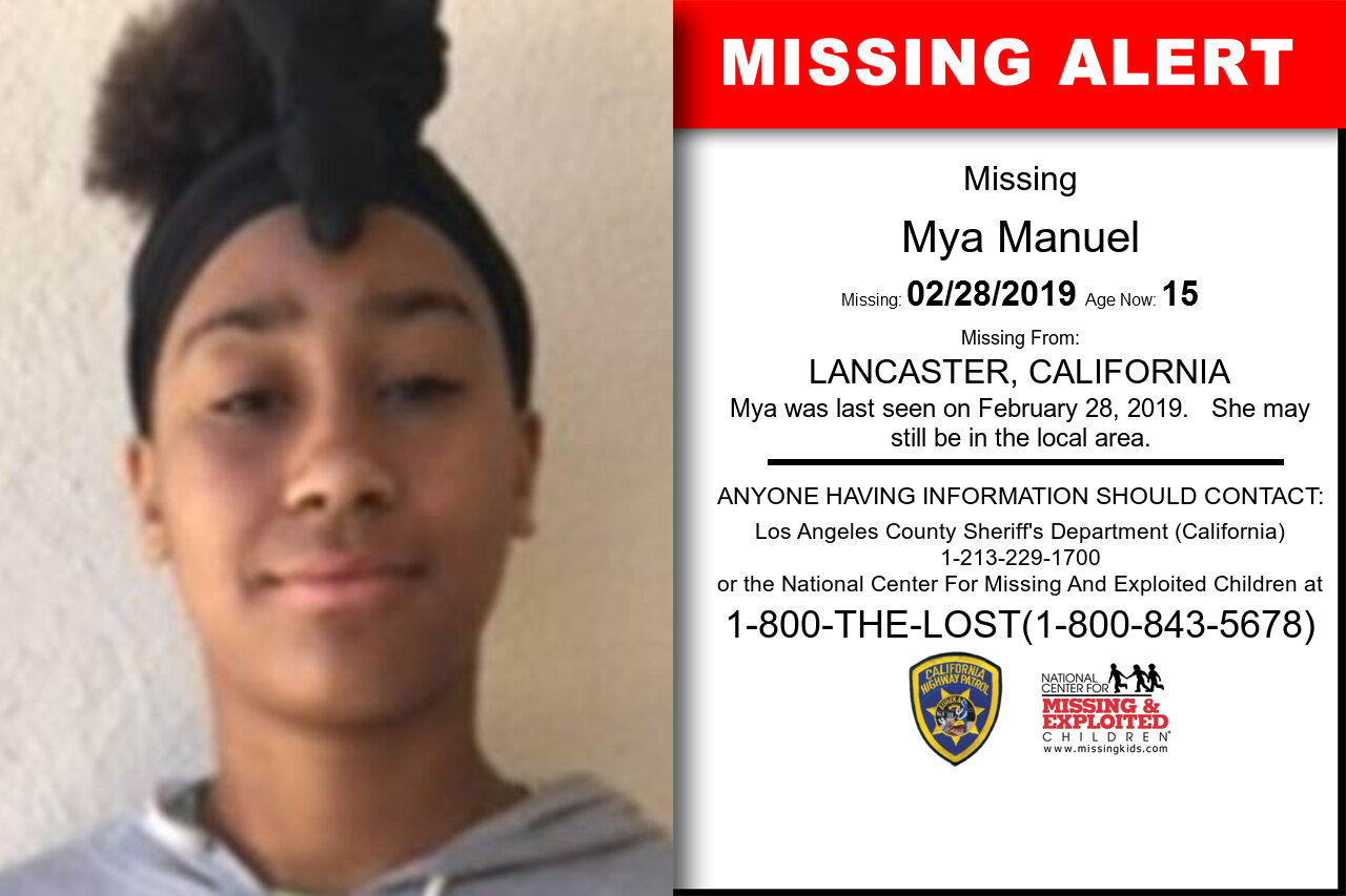 Mya_Manuel missing in California