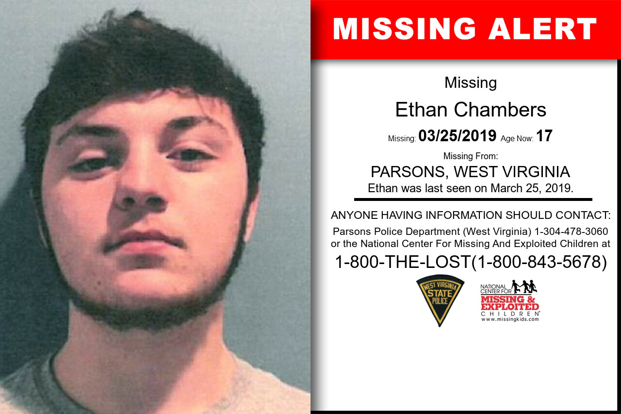 Ethan_Chambers missing in West_Virginia