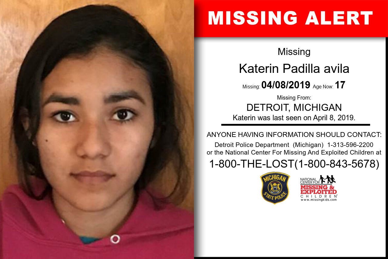 KATERIN_PADILLA_AVILA missing in Michigan