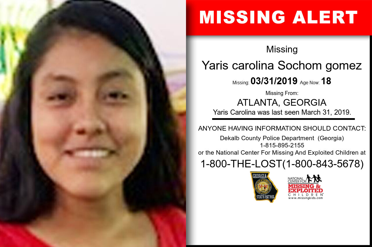 YARIS_CAROLINA_SOCHOM_GOMEZ missing in Georgia