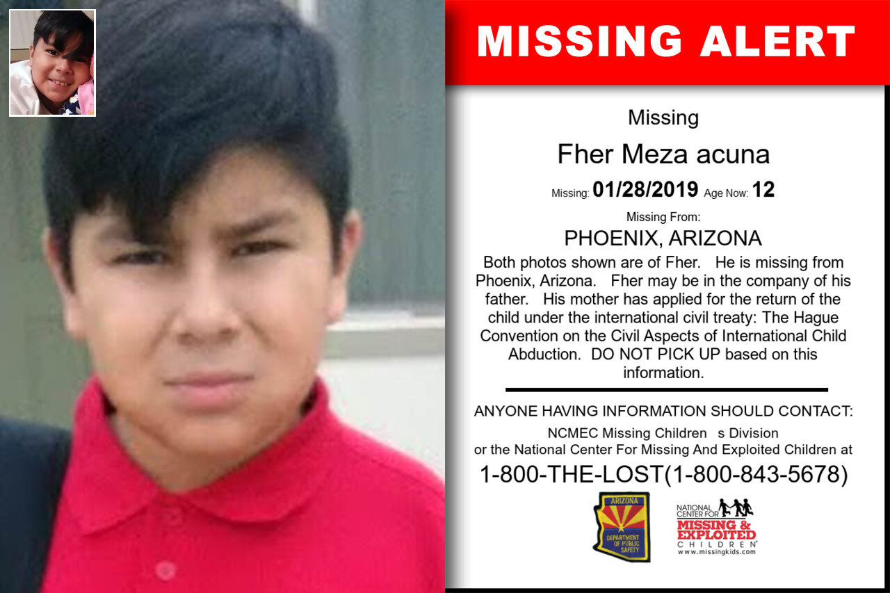 FHER_MEZA_ACUNA missing in Arizona