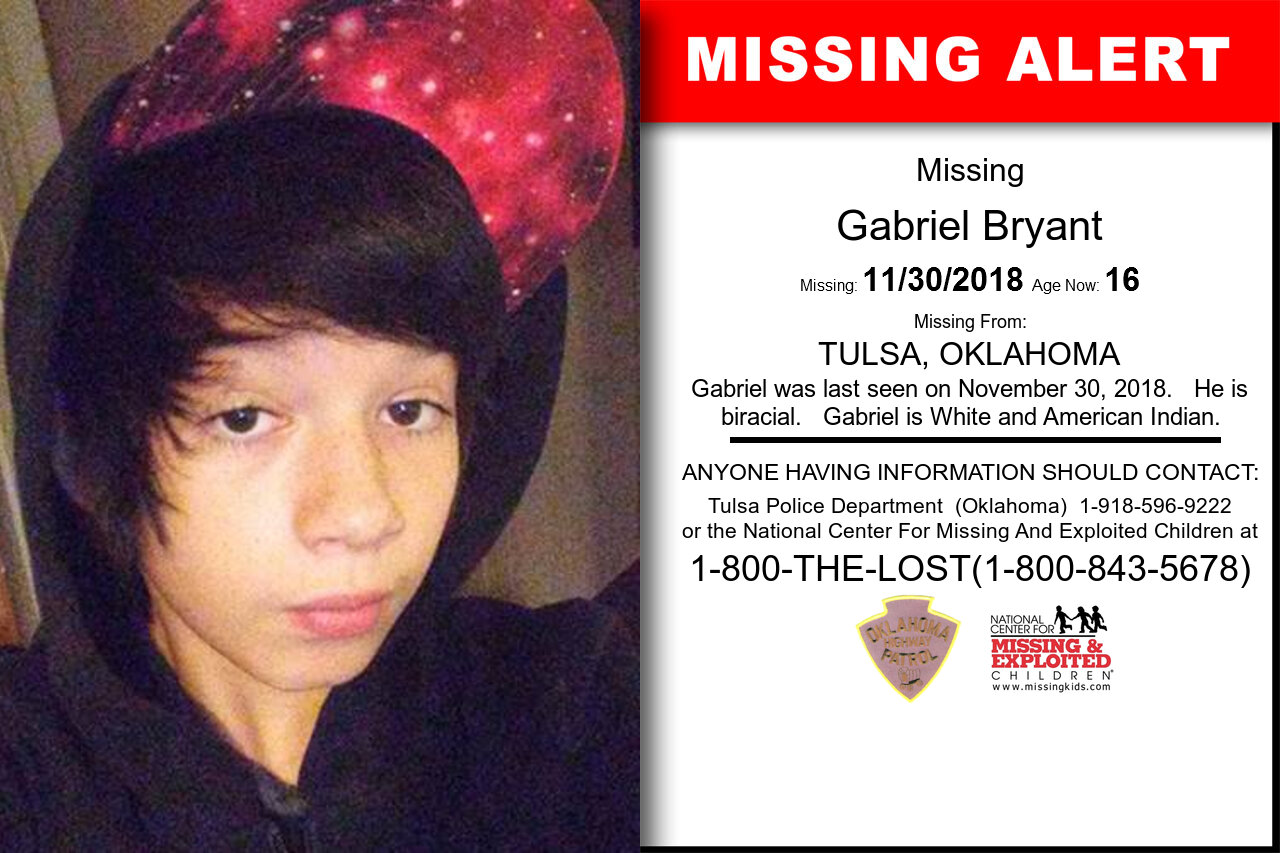 Gabriel_Bryant missing in Oklahoma