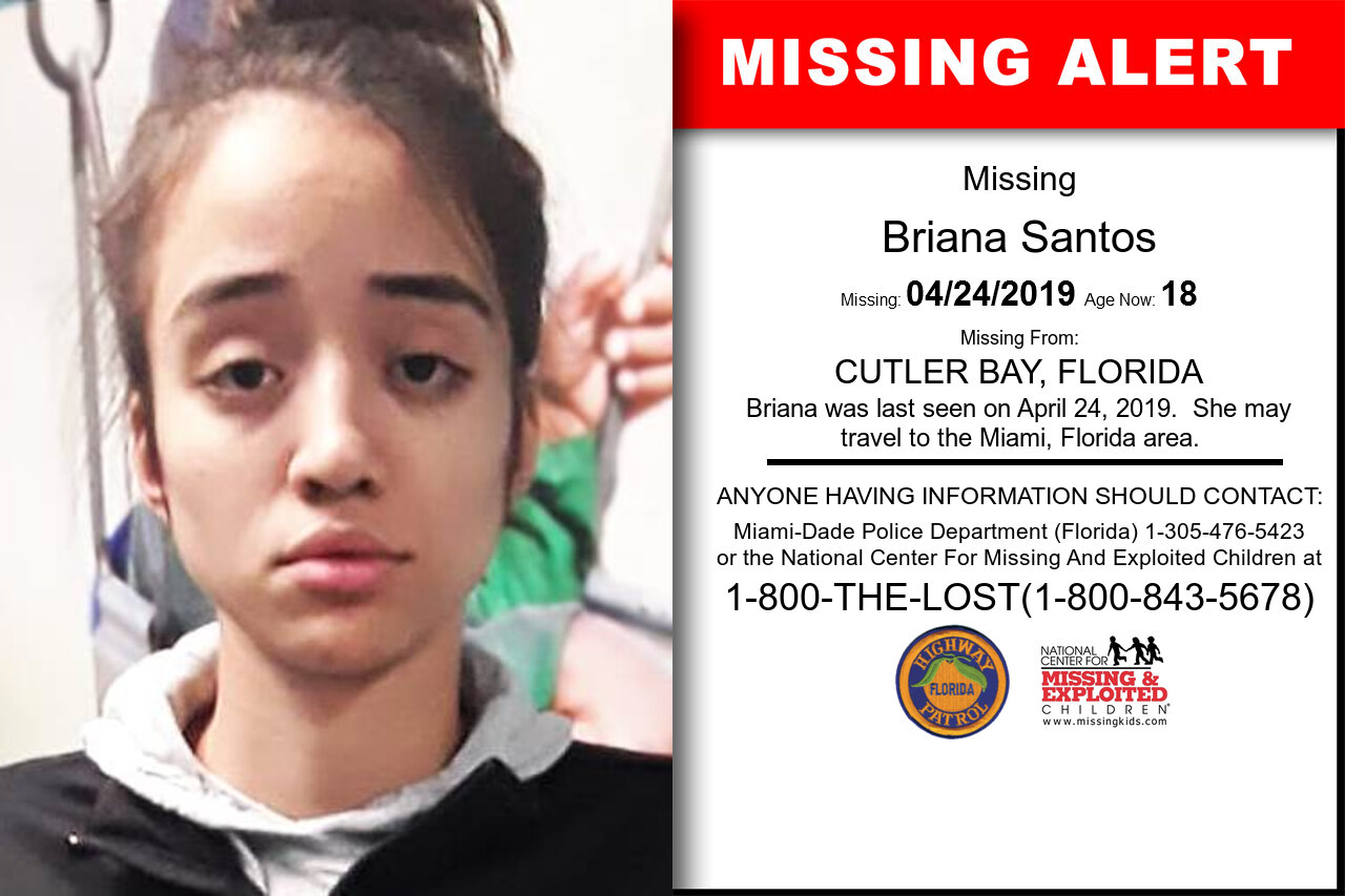 BRIANA_SANTOS missing in Florida