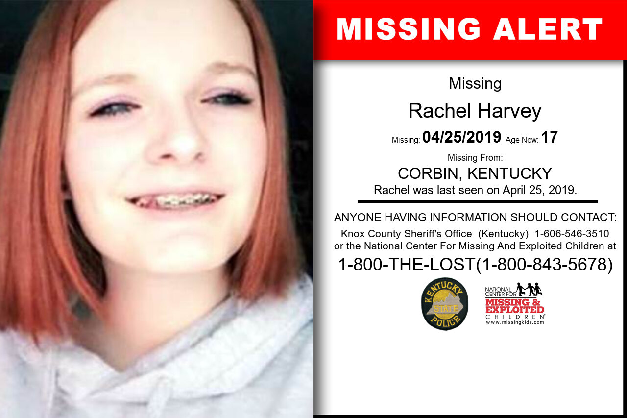 RACHEL_HARVEY missing in Kentucky