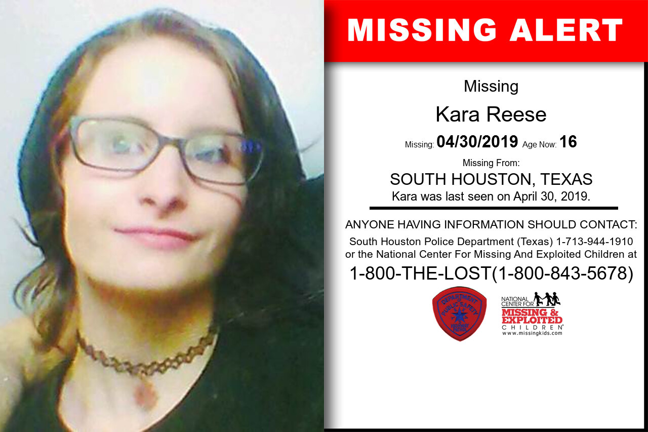 Kara_Reese missing in Texas