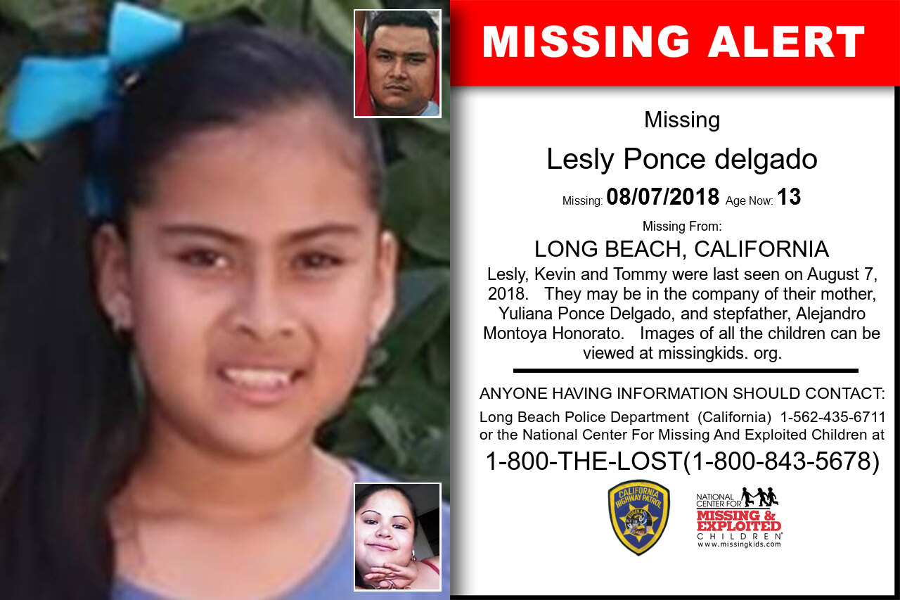 LESLY_PONCE_DELGADO missing in California