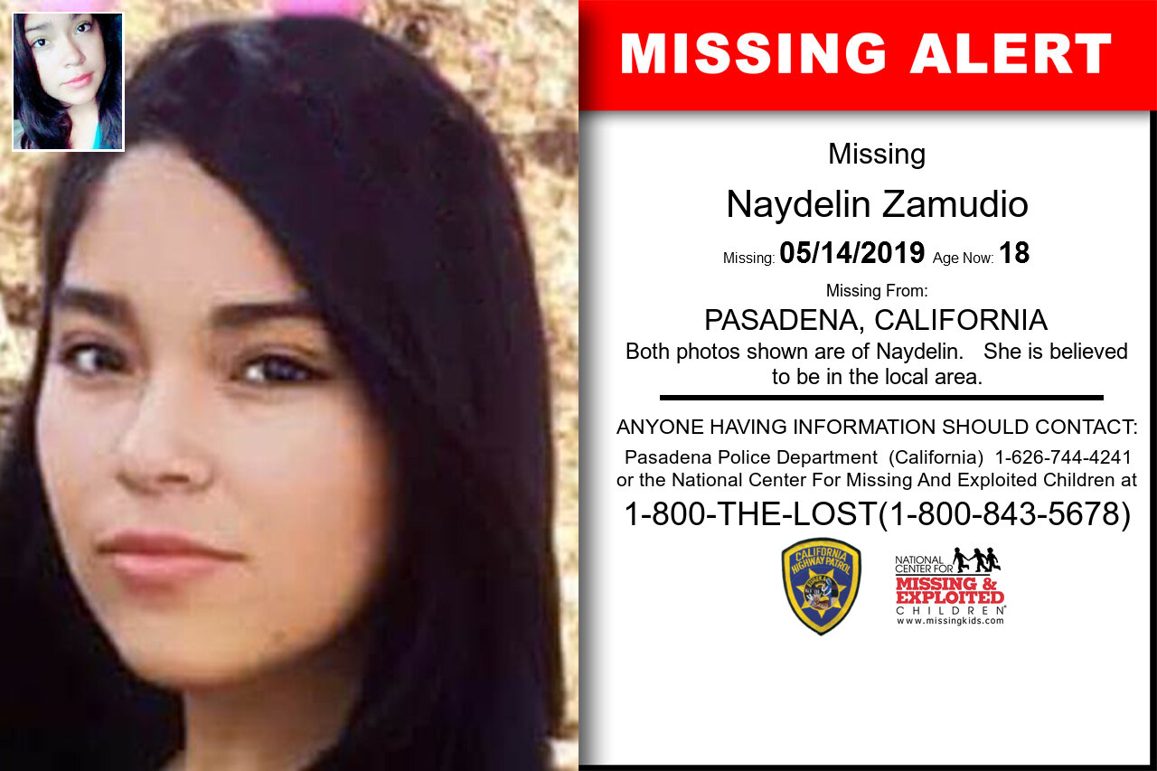 NAYDELIN_ZAMUDIO missing in California