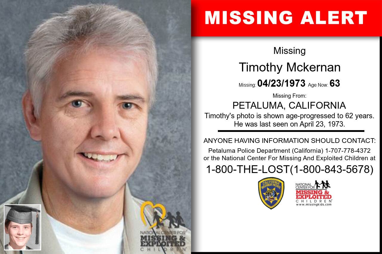 TIMOTHY_MCKERNAN missing in California
