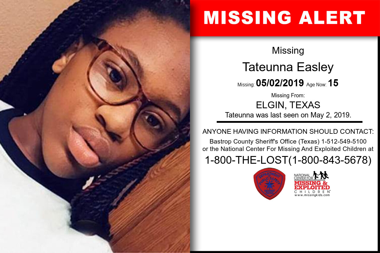 TATEUNNA_EASLEY missing in Texas