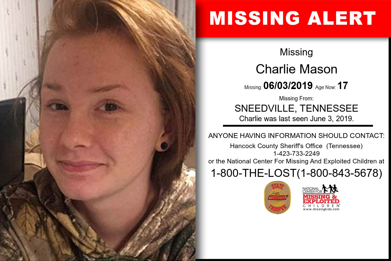 Charlie_Mason missing in Tennessee