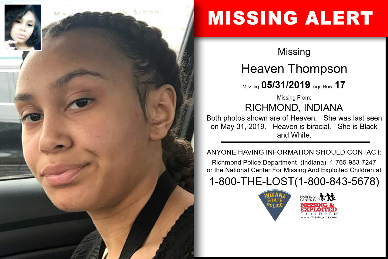 Heaven_Thompson missing in Indiana