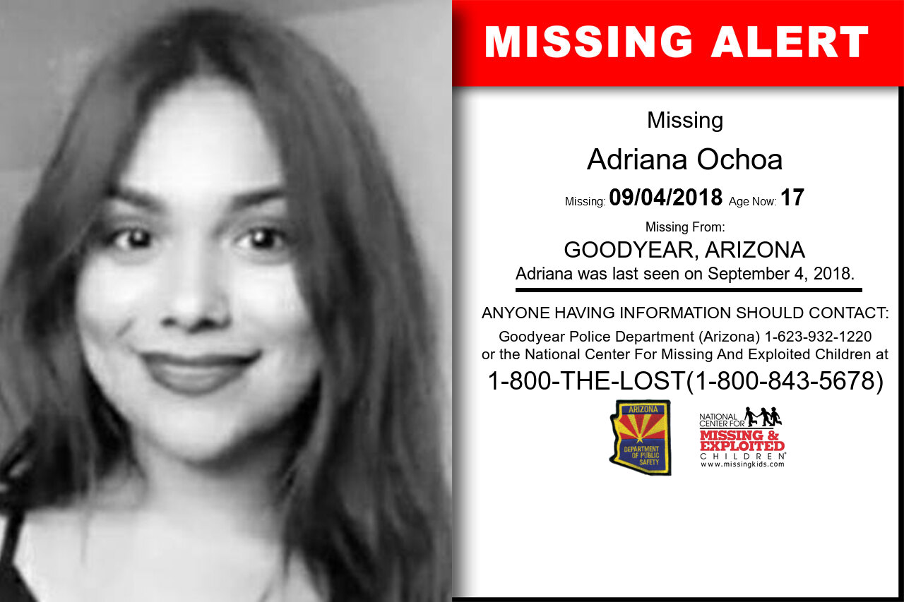 Adriana_Ochoa missing in Arizona