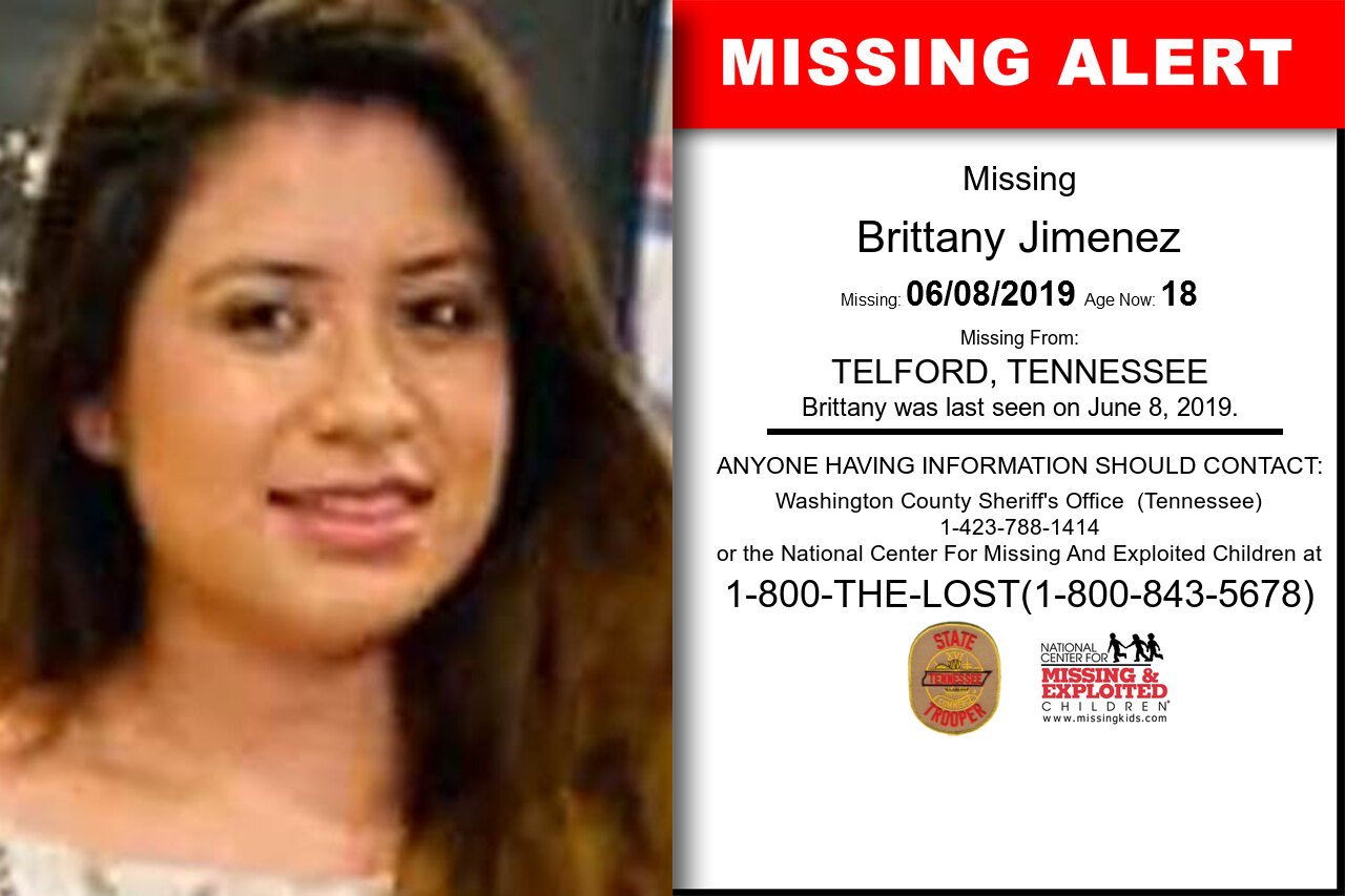 Brittany_Jimenez missing in Tennessee