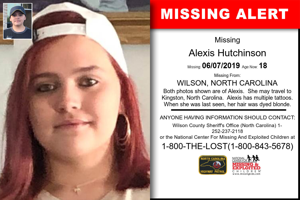 ALEXIS_HUTCHINSON missing in North_Carolina