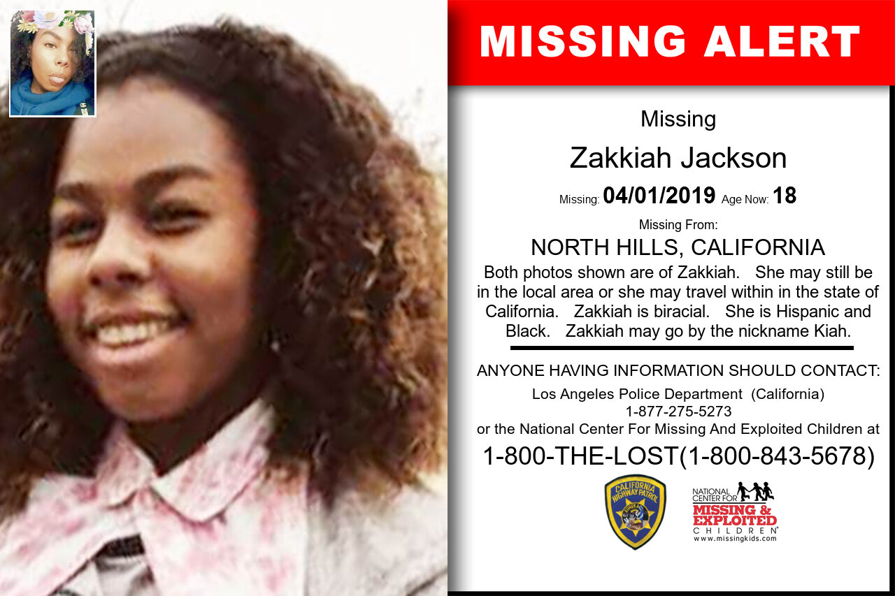 ZAKKIAH_JACKSON missing in California