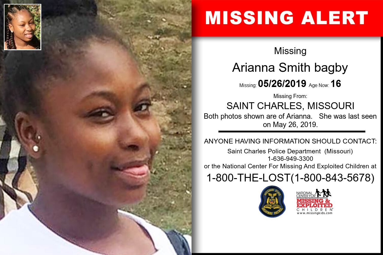 Arianna_Smith_bagby missing in Missouri