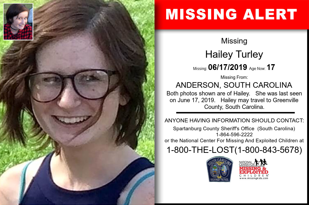 Hailey_Turley missing in South_Carolina