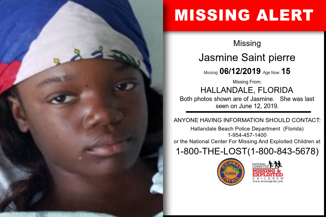 Jasmine_Saint_pierre missing in Florida