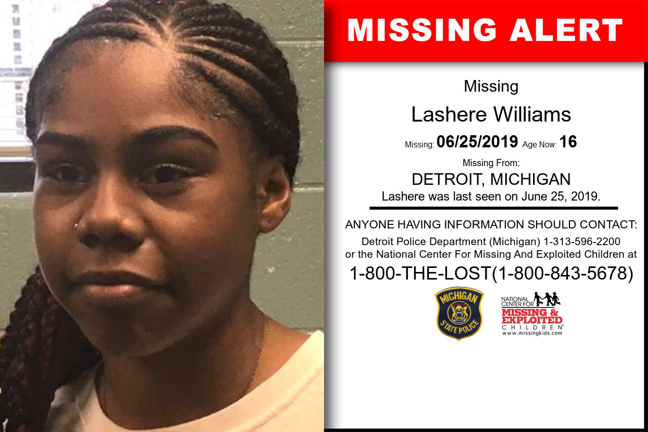 Lashere_Williams missing in Michigan