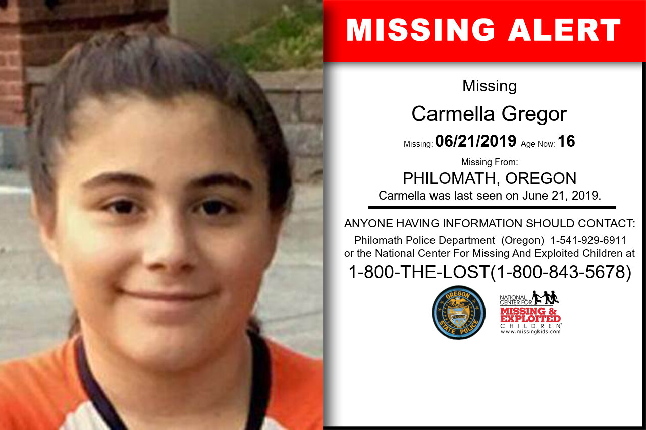 CARMELLA_GREGOR missing in Oregon