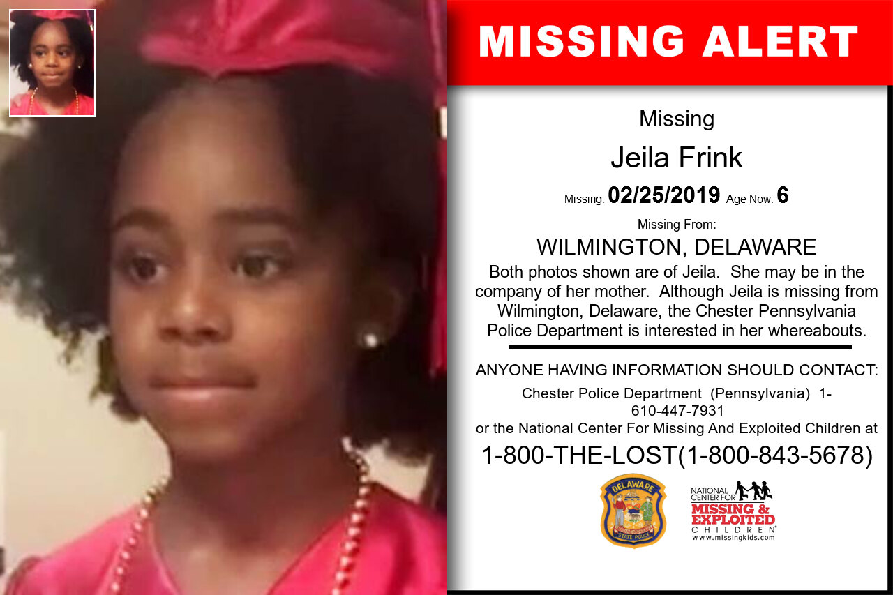 Jeila_Frink missing in Delaware