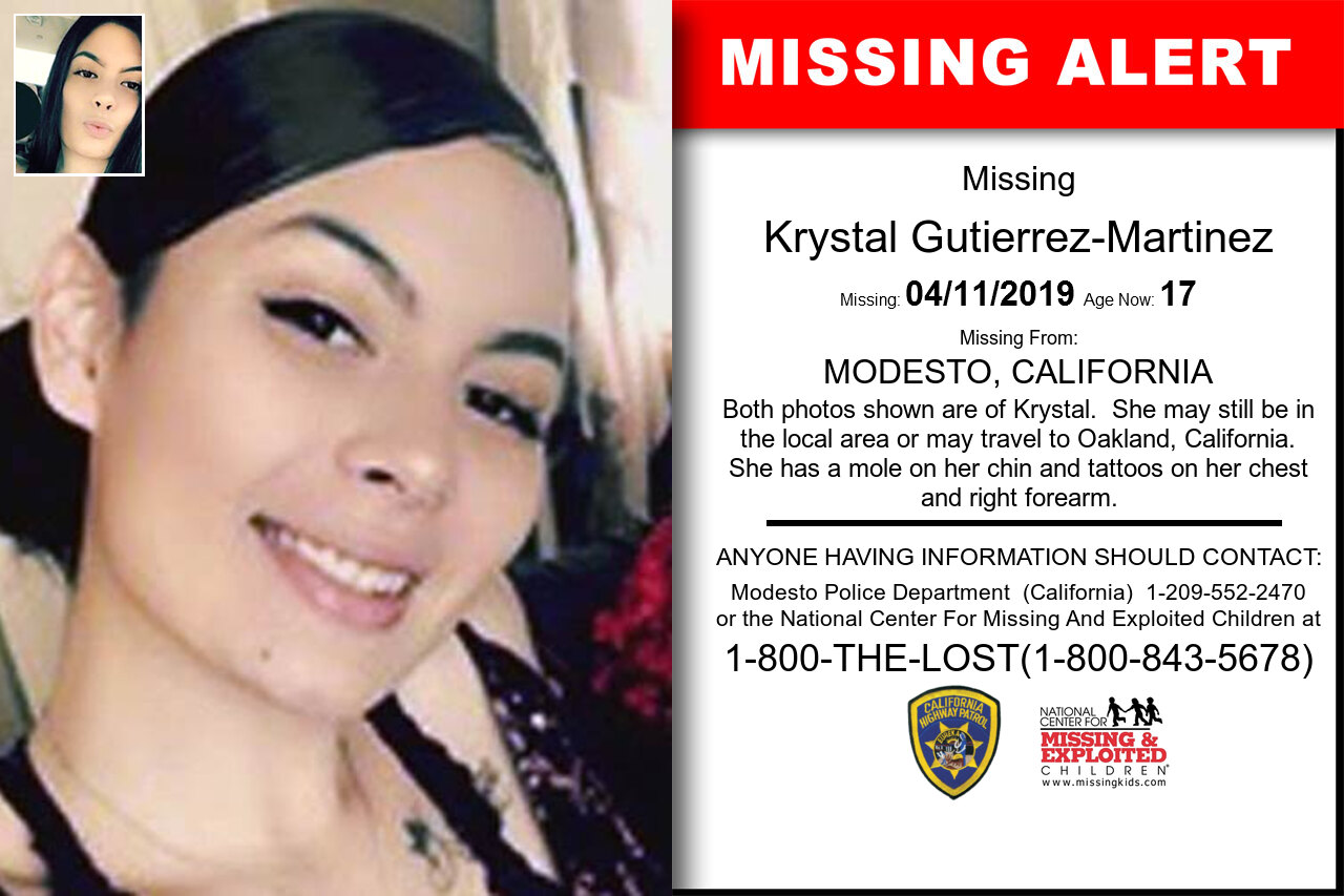 KRYSTAL_GUTIERREZ-MARTINEZ missing in California