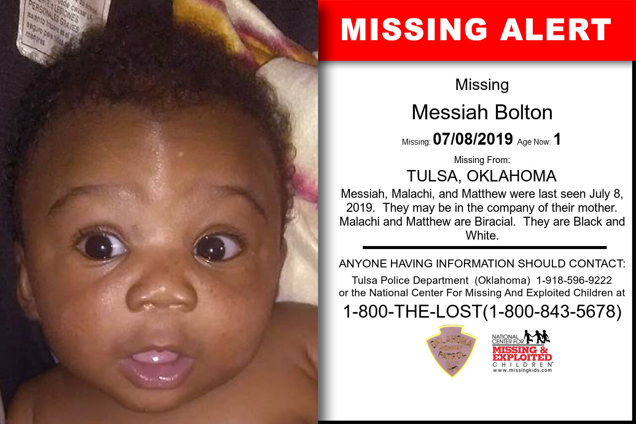 Messiah_Bolton missing in Oklahoma
