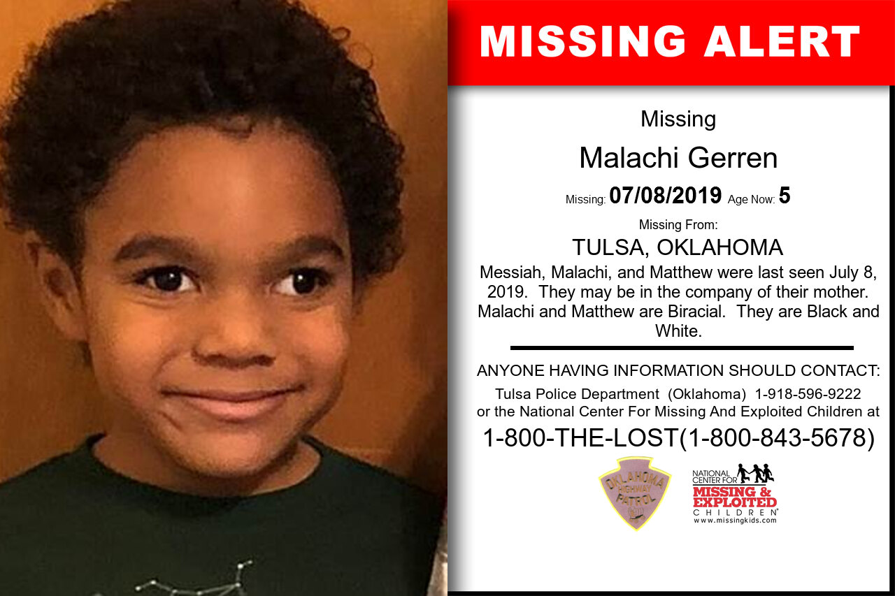 Malachi_Gerren missing in Oklahoma