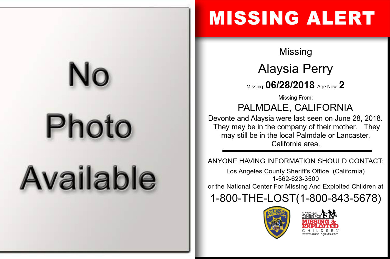 Alaysia_Perry missing in California