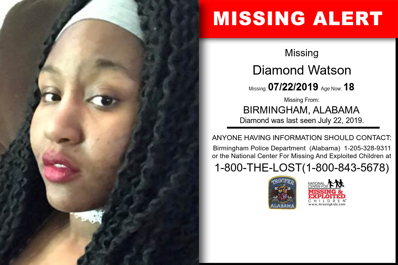 DIAMOND_WATSON missing in Alabama