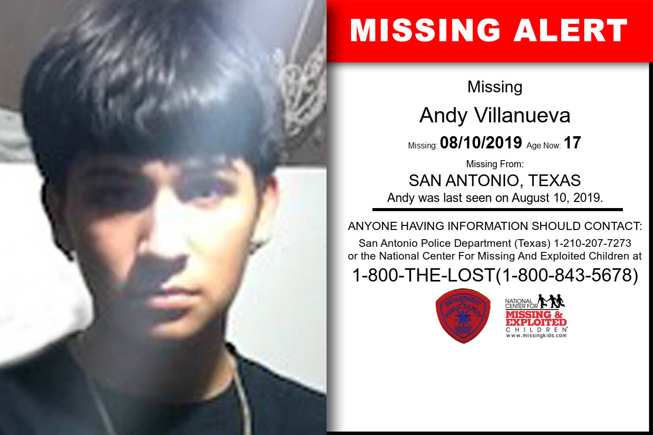ANDY_VILLANUEVA missing in Texas