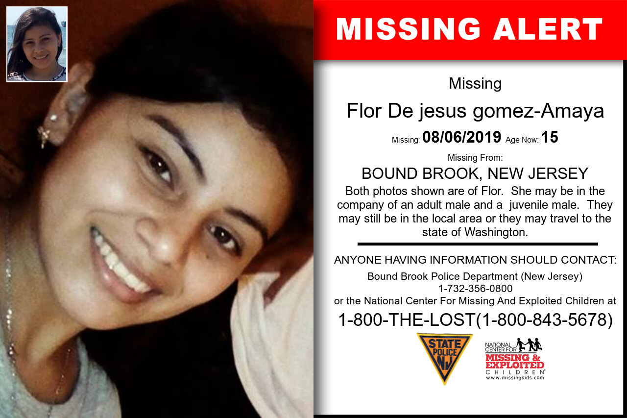 Flor_De_jesus_gomez-Amaya missing in New_Jersey