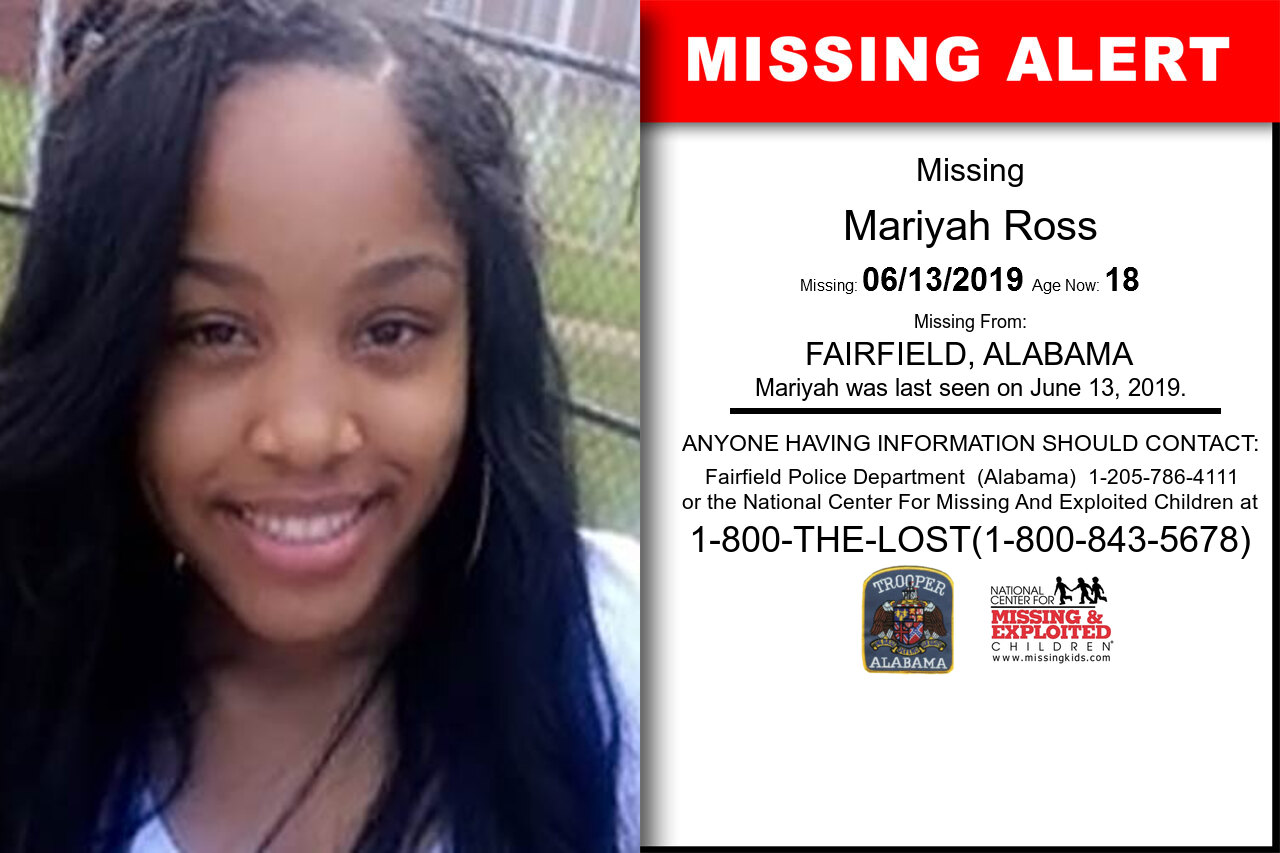 MARIYAH_ROSS missing in Alabama