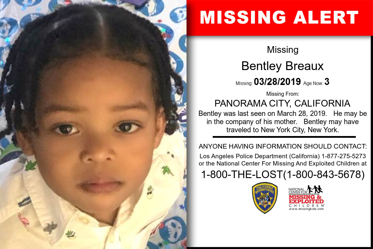 Bentley_Breaux missing in California