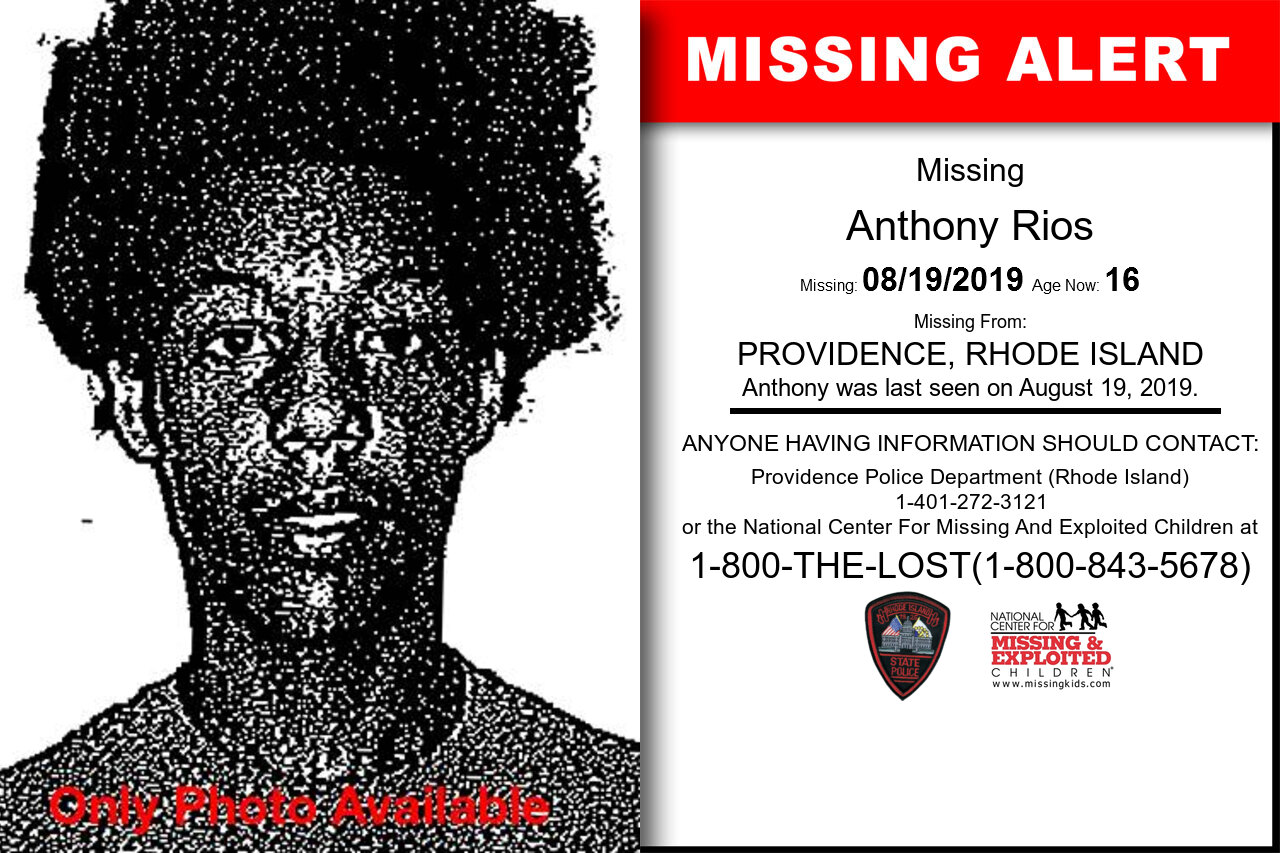 Anthony_Rios missing in Rhode_Island