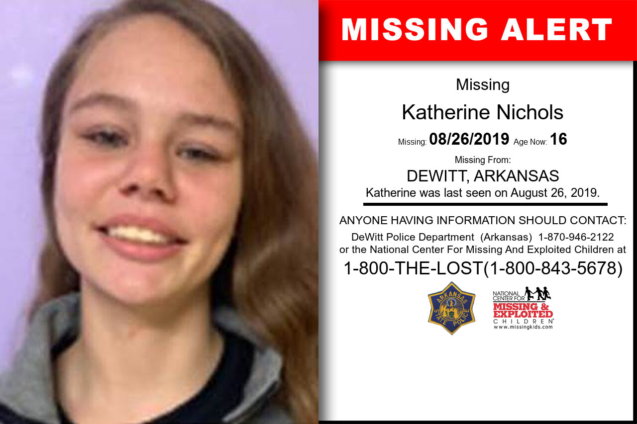 KATHERINE_NICHOLS missing in Arkansas