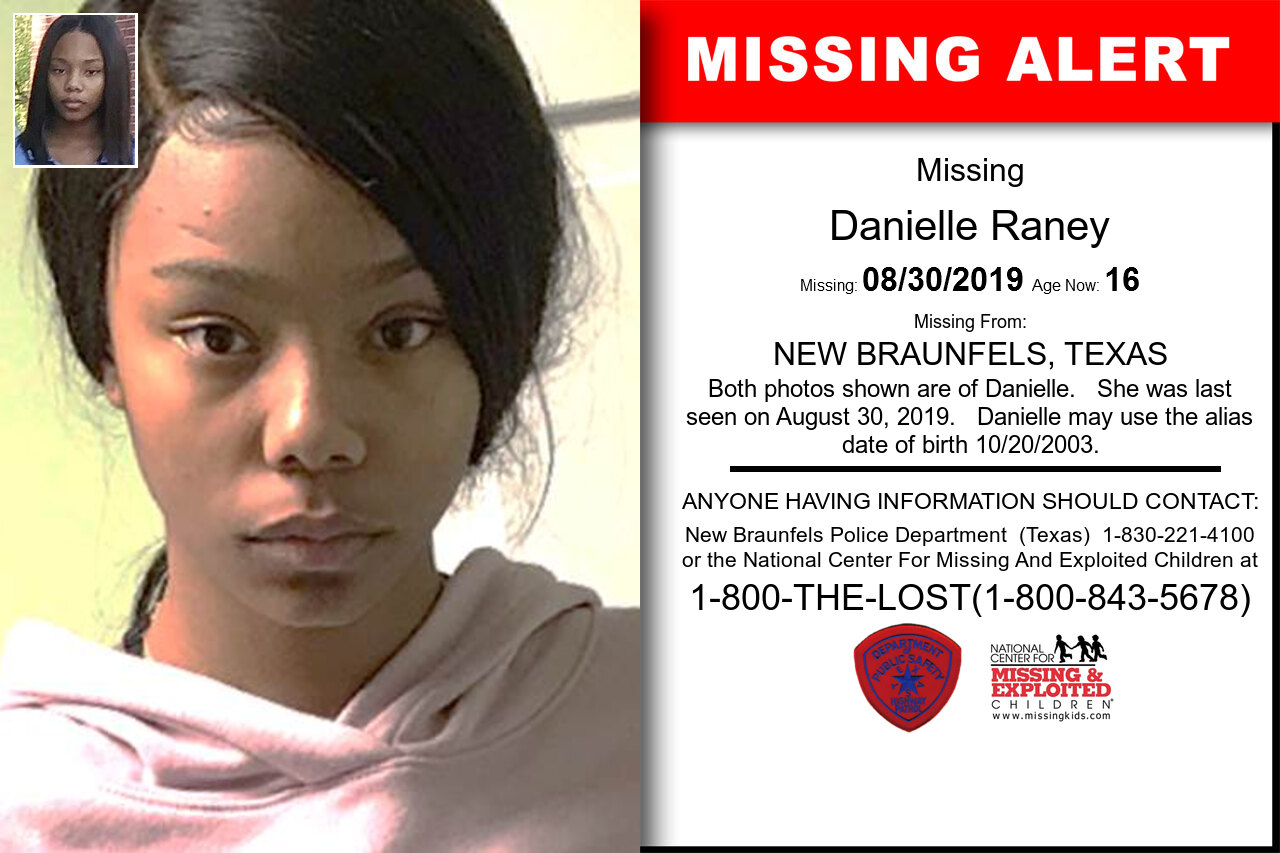 DANIELLE_RANEY missing in Texas