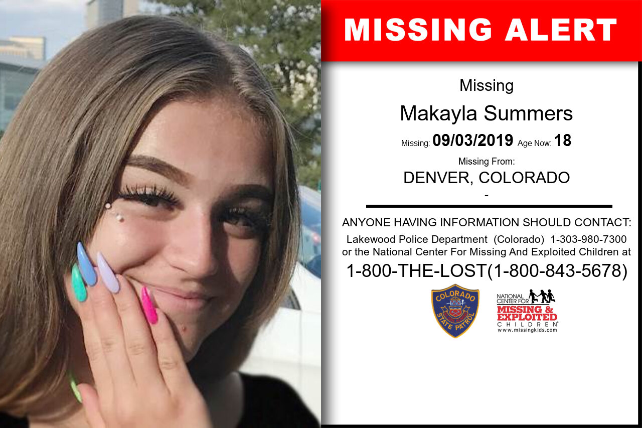 MAKAYLA_SUMMERS missing in Colorado
