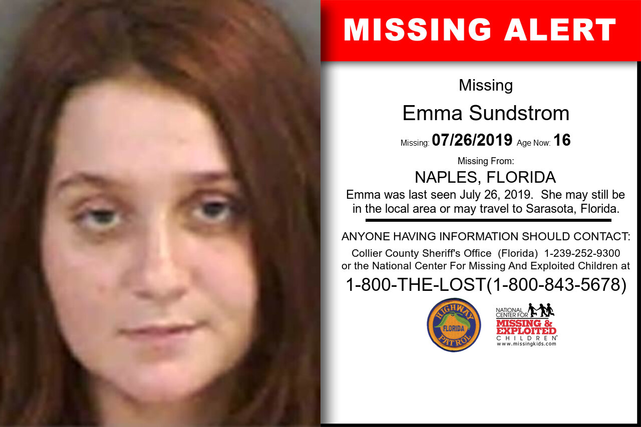 EMMA_SUNDSTROM missing in Florida