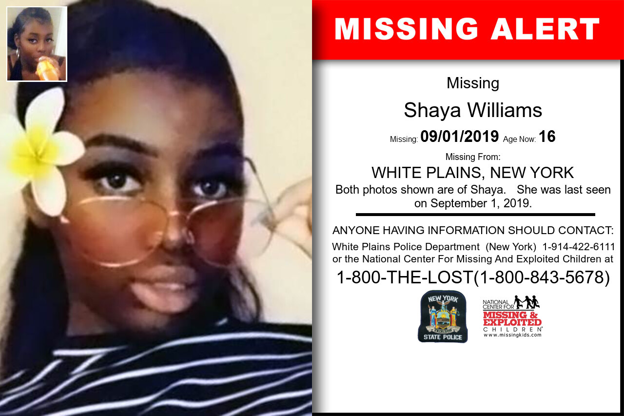 SHAYA_WILLIAMS missing in New_York