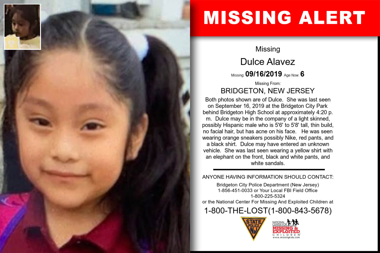 Dulce_Alavez missing in New_Jersey